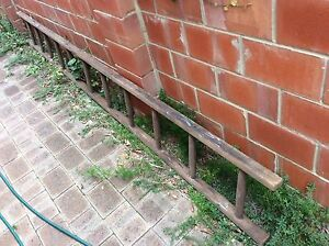 Vintage mid century wooden ladder cigar shape rungs 3.665m long Doubleview Stirling Area Preview