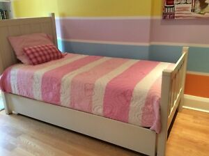 Twin bed, real wood from the bunk house