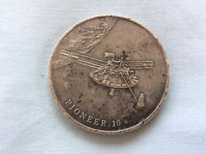 925 STERLING SILVER PIONEER 10 TABLE MEDALLION LARGE COIN SPACE Koondoola Wanneroo Area Preview