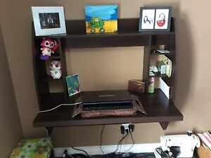 Desk and laptop