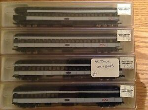 Various CN Canadian National n scale trains