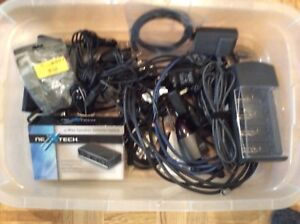 Plethora of cables and chargers,etc