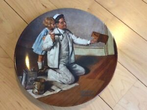 The Painter Decretive Plate by Norman Rockwell