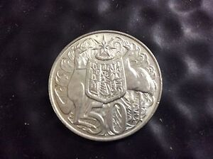 1966 round 50cent coin Bundaberg Central Bundaberg City Preview