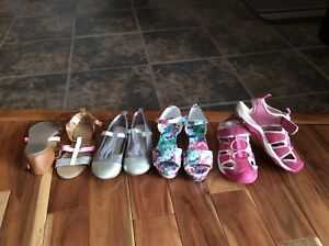Girls size 13 shoes, 4 pairs, good condition