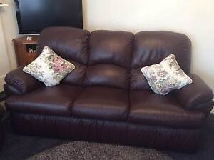 Genuine leather lounge Pooraka Salisbury Area Preview