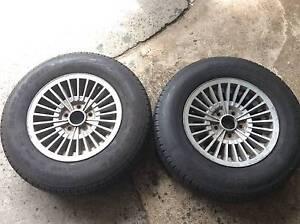 wheels alloy rims & tyres 185R14C inch ht holden stud patern suit Mount Druitt Blacktown Area Preview