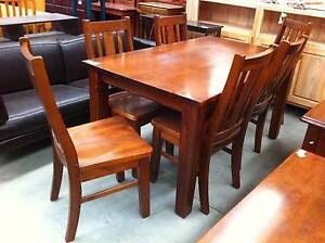 rustic wood dining set#5433 North Geelong Geelong City Preview