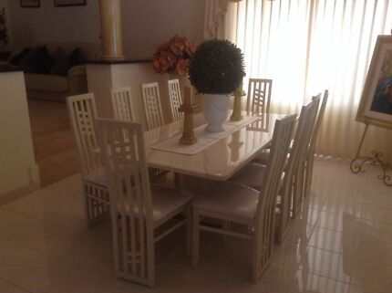 Dining Table & Chairs (Marble) Helena Valley Mundaring Area Preview