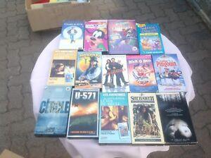 Lot de 13 films VHS