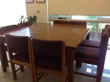 Hardwood Dining Table Square 15x15 Solid Urgent Sale