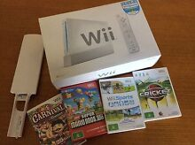 Wii console sports + Super Mario game + cricket game & bat + more Brisbane City Brisbane North West Preview