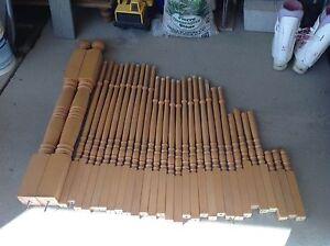 Poteaux et rampes escalier en bois (érable)