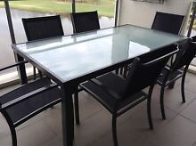 7 PIECE OUTDOOR TABLE AND 6 CHAIRS Merrimac Gold Coast City Preview