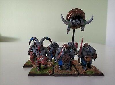 6 Ogre bulls / toros musician painted ogre kingdom age of sigmar Reino ogro segunda mano  Gorraiz