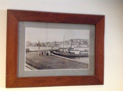 Jarrah framed old Albany prints