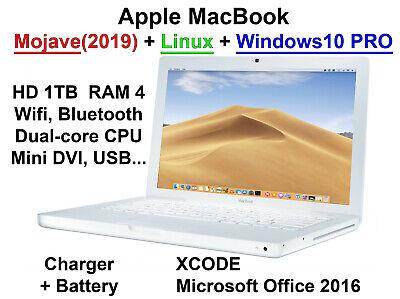 Macbook 1TB RAM 4GB Mac Mojave + Linux + Windows10 Pro
