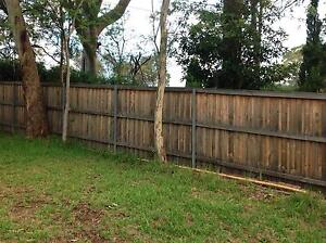 Treated pine lap and cap fence 21 m X 1.8 m 2 yrs old Turramurra Ku-ring-gai Area Preview