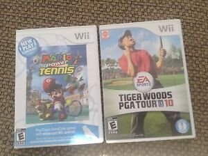 Mario power tennis and tiger woods games
