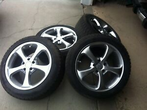 Dunlop Graspic Ice Tires and Enkei Wheels
