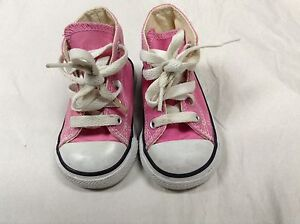 Converse hi top / high top shoes for baby, pink, infant size 3