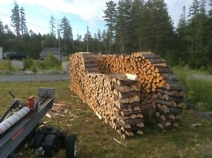 Cut and split spruce firewood (softwood)