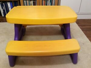 Little Tikes picnic table for kids