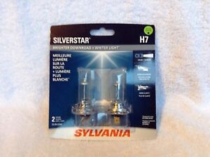 Sylvania Silverstar H7 Headlight Replacement Bulbs, new in pack