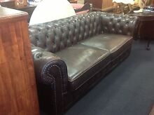 3 seater Chesterfield in dark chocolate brown Molendinar Gold Coast City Preview