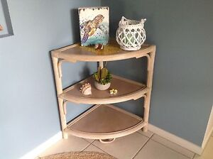 Lovely cane corner table or beside with three shelves Kewarra Beach Cairns City Preview