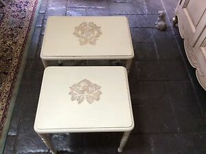 Nest of tables x 2 French style solid timber refurbished East Kurrajong Hawkesbury Area Preview