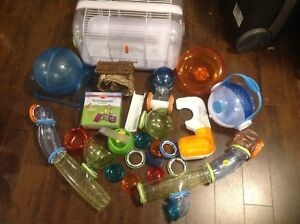Cage for hamster and lots of extra accessories