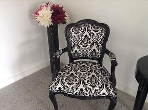 French black/white armchairs Georges Hall Bankstown Area Preview
