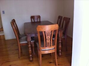 Solid Timber Dining table with 6 chairs Riverwood Canterbury Area Preview