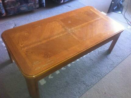 Pattern top wooden coffee table 1270Lx64Wx38H (app) Hornsby Hornsby Area Preview