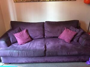 FREE Purple Suede Lounge 2 & 3 seater lounge -MUST BE GONE JULY 3 Leichhardt Leichhardt Area Preview