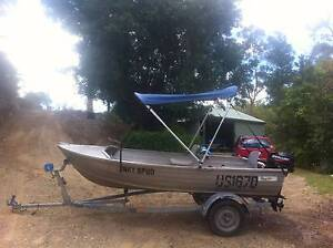 12 foot stacer tinny & 2010 15hp mercury Mount Crosby Brisbane North West Preview