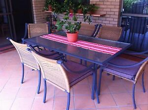 Outdoor Table and six Chairs with Cushions Carindale Brisbane South East Preview