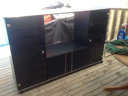 Black entertainment unit Leumeah Campbelltown Area Preview