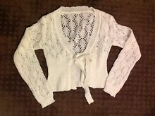 White Knitted Knot Cardigan Roxburgh Park Hume Area Preview