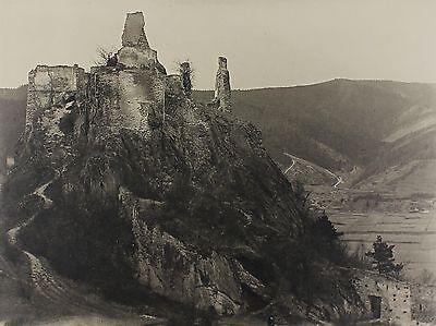 Fritz Gröbl: Bromsilberabzug um 1930 - Ruine Dürnstein, Grossformat
