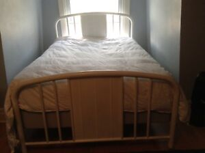 Beautiful white metal full/double bed