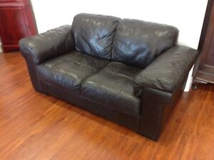 High quality black leather couch