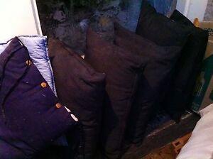 Black Outdoor garden cushions x 5 Paddington Eastern Suburbs Preview