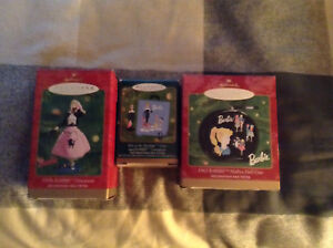 Vintage Hallmark Barbie Ornaments