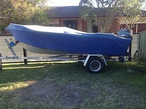QUINTREX ALUMINIUM BOAT COMPLETE WITH MOTOR AND TRAILER Mallabula Port Stephens Area Preview