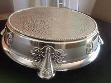 Silver Round Wedding Cake Stand Kallangur Pine Rivers Area Preview