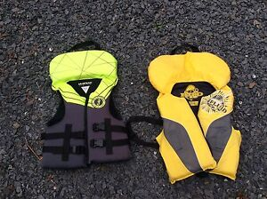 Two kids life jackets
