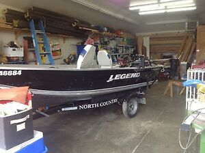 2012 14 ft legend trailer and 20 hp 4stroke electric