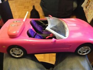 BARBIE cars and remote control corvette